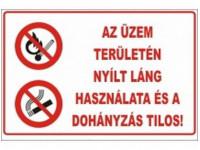 Az üzem területén nyílt láng használata tilos