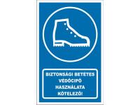 Védőcipő használata kötelező